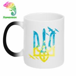 Кружка-хамелеон Герб з птахами