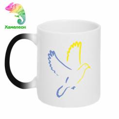 Купити Кружка-хамелеон Голуб миру