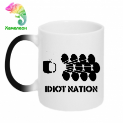 Кружка-хамелеон Idiot Nation