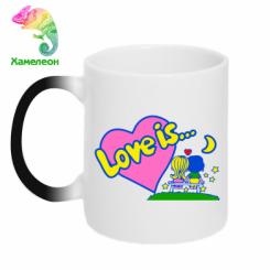 Кружка-хамелеон Love is...