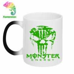 Купити Кружка-хамелеон Monster Energy Череп