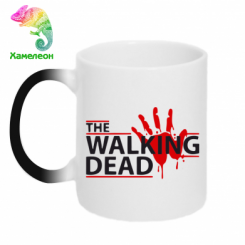 Кружка-хамелеон The Walking Dead logo