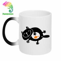 Купити Кружка-хамелеон Жирний кіт