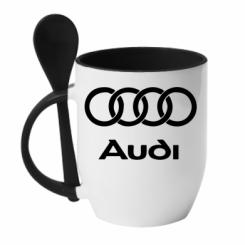 Купити Кружка з керамічною ложкою Audi