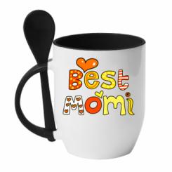 Кружка с керамической ложкой Best Momi