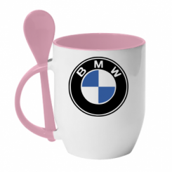 Купити Кружка з керамічною ложкою BMW