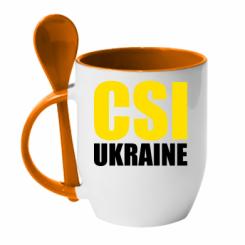Кружка з керамічною ложкою CSI Ukraine