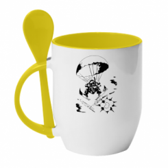 Купити Кружка з керамічною ложкою Десантник