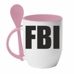 Купити Кружка з керамічною ложкою FBI (ФБР)