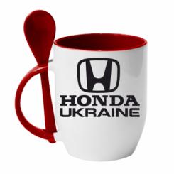 Купити Кружка з керамічною ложкою Honda Ukraine