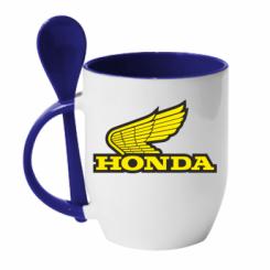Купити Кружка з керамічною ложкою Honda Vintage Logo