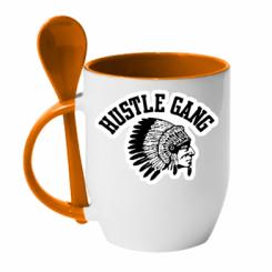 Купити Кружка з керамічною ложкою Hustle Gung