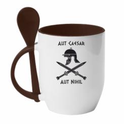 Купити Кружка з керамічною ложкою Або Цезар, або ніщо