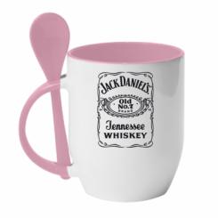 Купити Кружка з керамічною ложкою Jack daniel's Whiskey