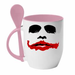 """Купити Кружка з керамічною ложкою """"Joker Face"""""""