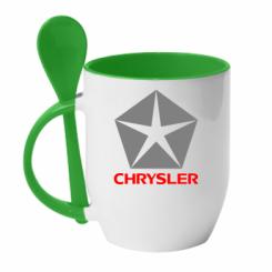 Купити Кружка з керамічною ложкою Крайслер