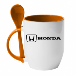 Купити Кружка з керамічною ложкою Логотип Honda