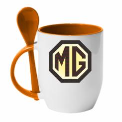 Кружка з керамічною ложкою MG Cars Logo