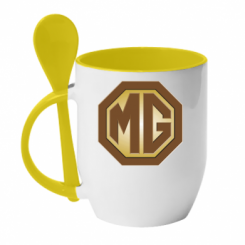 Кружка з керамічною ложкою MG Cars