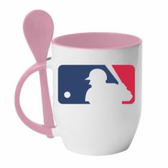 Купити Кружка з керамічною ложкою MLB