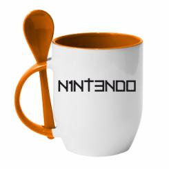 Купити Кружка з керамічною ложкою Nintendo