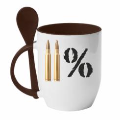 Купити Кружка з керамічною ложкою Одинадцять відсотків