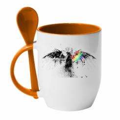 Кружка з керамічною ложкою Pink Floyd Eagle