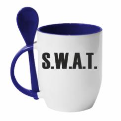 Купити Кружка з керамічною ложкою S.W.A.T.