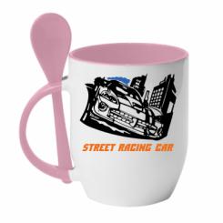 Купити Кружка з керамічною ложкою Street Racing Car