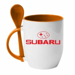 Купити Кружка з керамічною ложкою Subaru