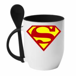 Купити Кружка з керамічною ложкою Superman