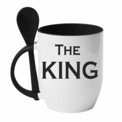 Кружка с керамической ложкой The King