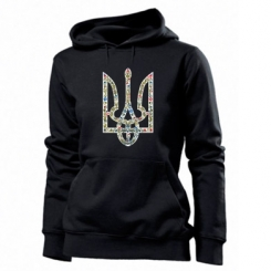 Толстовка жіноча Квітучий герб України