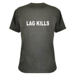 Камуфляжна футболка Lag kills