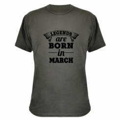 Камуфляжна футболка Legends are born in March