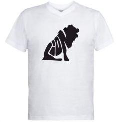 Купити Чоловічі футболки з V-подібним вирізом Лев