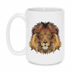 Кружка 420ml Lion Poly Art