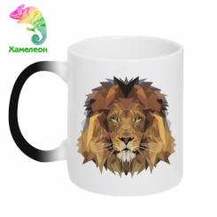 Кружка-хамелеон Lion Poly Art