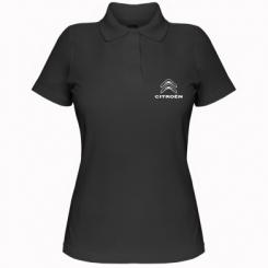 Купити Жіноча футболка поло Логотип Citroen