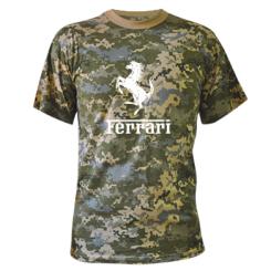 Купити Камуфляжна футболка логотип Ferrari