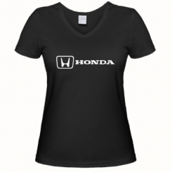 Купити Жіноча футболка з V-подібним вирізом Логотип Honda