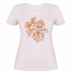Жіноча футболка Лотос візерунки