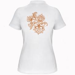 Жіноча футболка поло Лотос візерунки