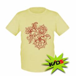 Дитяча футболка Лотос візерунки