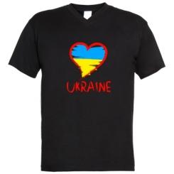 Купити Чоловічі футболки з V-подібним вирізом Love Ukraine