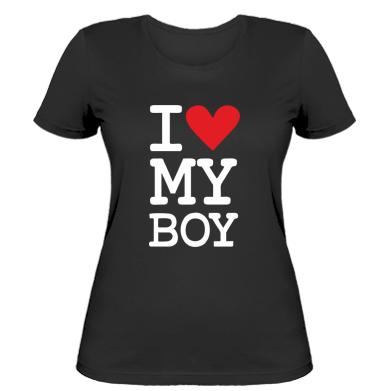 Жіноча футболка люблю свого хлопчика