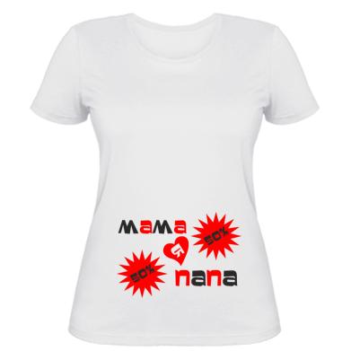Жіноча футболка Мама і Папа = я