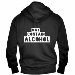 Чоловіча толстовка на блискавці May contain alcohol