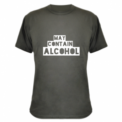 Камуфляжна футболка May contain alcohol
