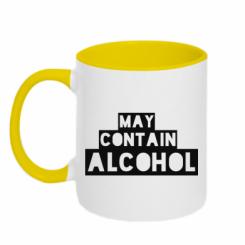 Кружка двокольорова May contain alcohol